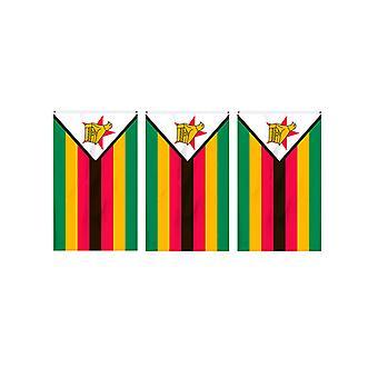 Zimbabwe vlag Bunting rechthoekige vlaggen