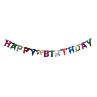 Happy Birthday Letters Foil Banner