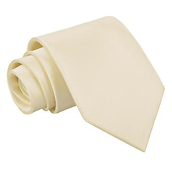 Champagne Plain Satin Extra Long Tie