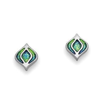 Sterling Silver Traditional Contemporary Modern New Dawn Design Pair of Earrings - EE497