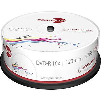 Primeon 2761205 Blank DVD-R 4.7 GB 25 pc(s) Spindle Printable