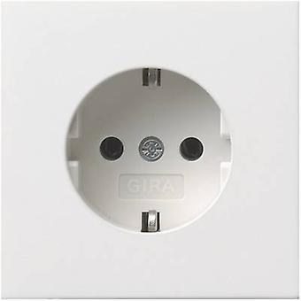 GIRA Insert PG socket Planar switch Pure white 0188112