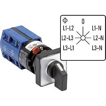Kraus & Naimer CG4 A007-624 FS2 Voltmeter changeover switch 10 A Grey, Black 1 pc(s)