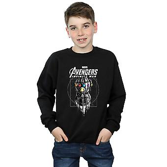 Marvel Boys Avengers Infinity War Gauntlet Sweatshirt