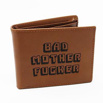 Pulp Fiction Bad Mother Fucker Geldbeutel (Leder) Geldbeutel aus Leder, bestickt, inklusive M³nzfach.