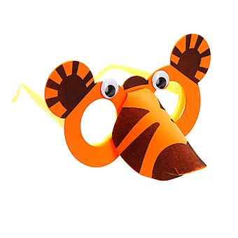 TRIXES Orange Tiger Foam Arts and Crafts Glasses Kit