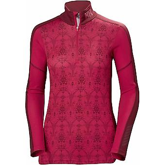Helly Hansen Women's LIFA Active Graphic 1/2 zip - Rosso/Frost