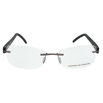 Porsche Design P8209 D suorakulmainen | Gunmetal/matta musta | Silmälasien kehykset