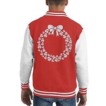 Varsity Jacket originale casco Stormtrooper Christmas Wreath capretto
