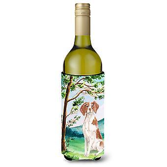 Under the Tree Brittany Spaniel Wine Bottle Beverage Insulator Hugger