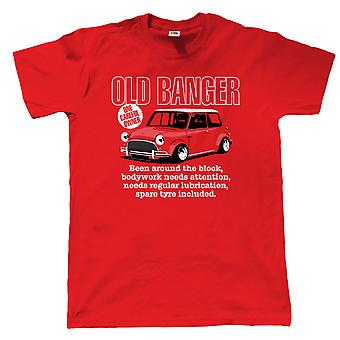 Old Banger Mens Funny Classic Mini T Shirt - Gift for Dad Birthday