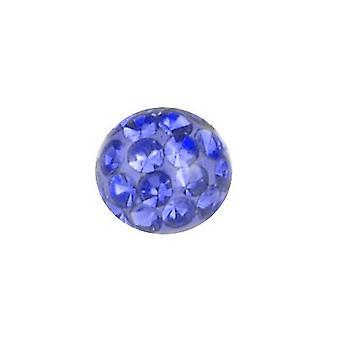 Piercing vervanging bal, lichaam sieraden, Multi Crystal stenen Sapphire Blue | 4, 5 en 6 mm