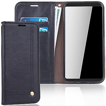 Cell phone cover case voor WIKO weergave XL cover wallet Pouch zwart