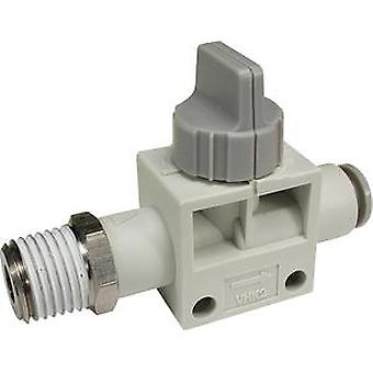 SMC Grey Rotary Knob Pneumatic Manual Control Valve, Pbt, 0 To +60 C
