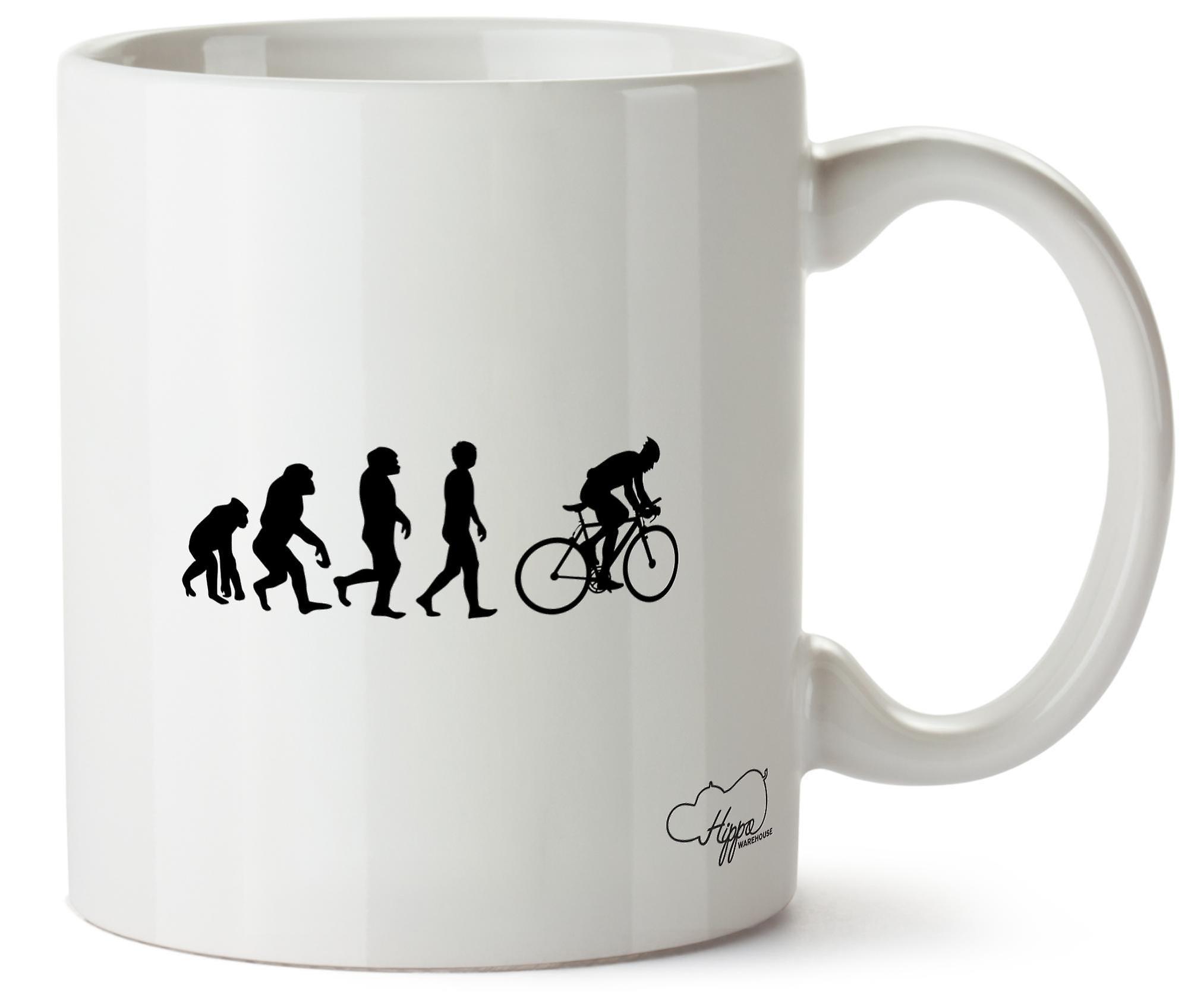 Эволюция Hippowarehouse велосипедист напечатаны Кубка керамическая кружка 10oz