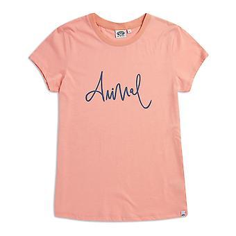 Animal reel meg i korte ermer T-skjorte i Sunset Pink Marl