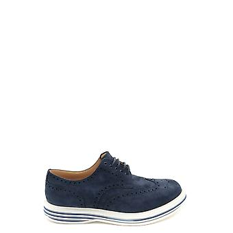 Church's Ezbc004062 Men's Blue Suede Lace-up Shoes