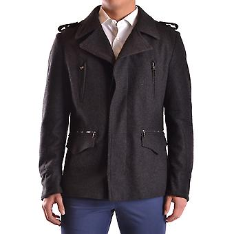 John Richmond Ezbc082090 Men's Grey Wool Outerwear Jacket