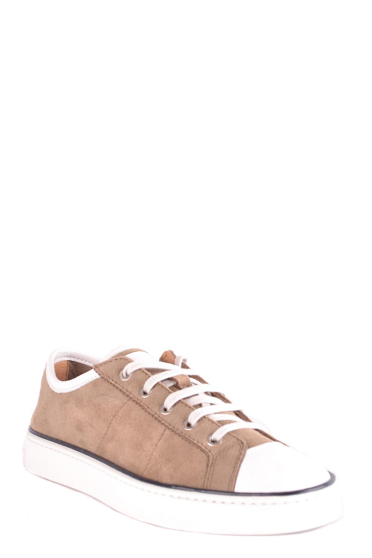 Santoni Mbgu20016hgblnaum53 Men-apos;s Brown Suede Sneakers