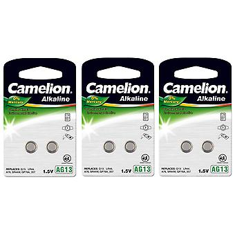 Camelion A76 LR44 AG13 Battery 6-pack