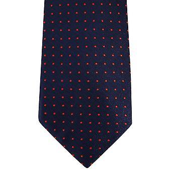 David Van Hagen Spotted Tie - Navy/Red