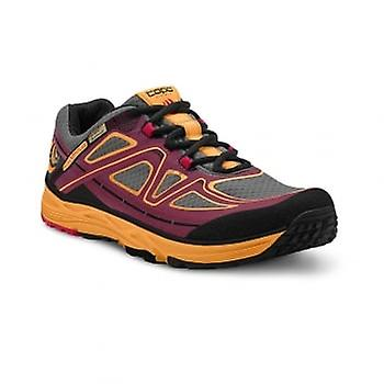 Topo Hydroventure Womens Low Drop & Wide Toe Box Trail Running Shoes Burgundy/peach