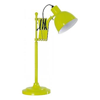 Fusion Living Lime Green uitschuifbare metalen tafel lamp