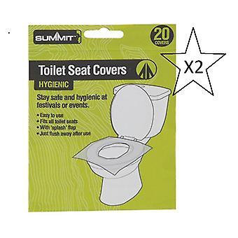 حزمة - مهرجان القمة / التخييم مقعد المرحاض يغطي حزمة من 20 - 2 حزم من 20 الموردة