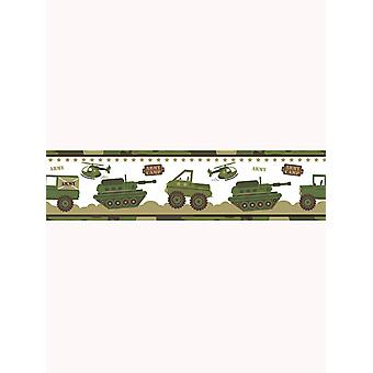 Army Camp Camouflage Wallpaper Border - Price Right Home A12804