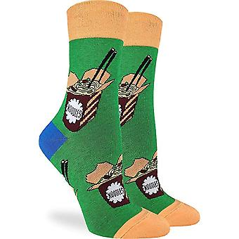 Socks - Good Luck Sock - Women's Crew Socks - Noodles (5-9) 3219