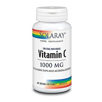 Solaray Vitamin C Two Stage Time Release 1000mg Capsules 60 (1056)