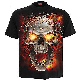 Spiral - skull blast - mens short sleeve t-shirt black