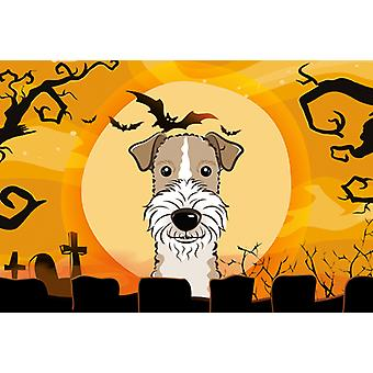 Halloween Wire Haired Fox Terrier Fabric Placemat