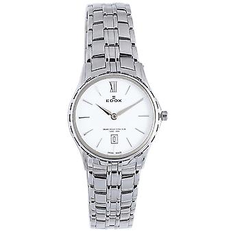 Edox Grand Ocean Swiss Quartz Analog Women Watch with 26025-3-BIN سوار الفولاذ المقاوم للصدأ
