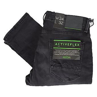 883 Police Moriarty Distressed Black Wash Jeans