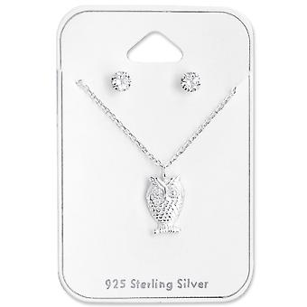 Owl - 925 Sterling Silver Sets - W28958x