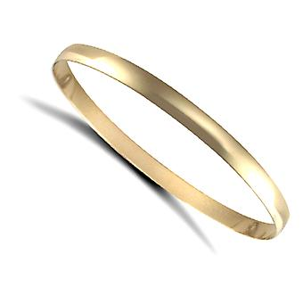 Jewelco London Ladies solid 9ct gult guld D-form 5mm armring armband