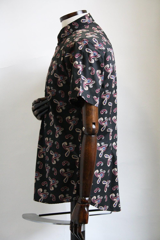 Merc London Neal Black Paisley Shirt