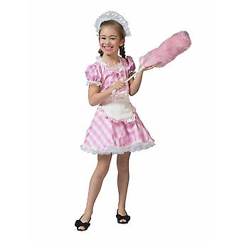 Petite Louisa Cleaning Lady Costume pour enfants Costume rose Carnaval Ménage Aide Kids Dress Carnival Girl Maid