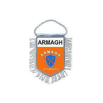 Sinalizar mini bandeira país decoração carro lembrança Blason Armagh