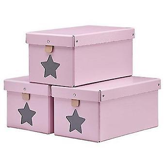 Schoeboxes lasten konsepti vaaleanpunainen 3-setti