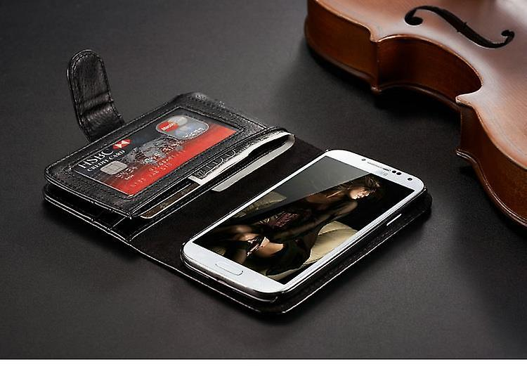 Galaxy S4 wallet case 7 card holder leather