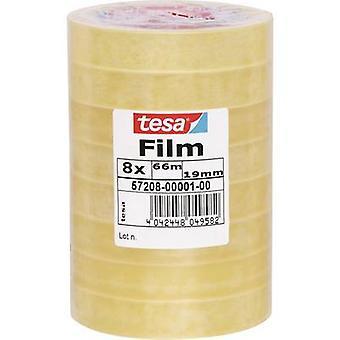 tesa 57208-01-00 Tesa film tesa® شفاف (L x W) 66 م × 19 مم 8 أجهزة كمبيوتر (أجهزة)