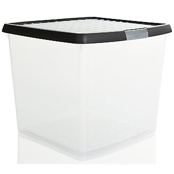 Wham Storage 37 Litros Wham Clip Square Plastic Storage Box With Lid 10.03 - Great For 12'' Vinyl Records Wham Storage Square Plastic Storage Box With Lid 10.03 - Great For 12'' Vinyl Records