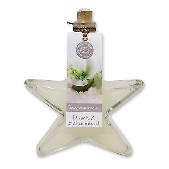 Florex Dusch-und Schaumbad Badezusatz Schneerose im dekorativen Tannen Glas 200 ml