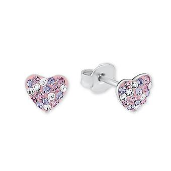 Prinsesse Lillifee børn øreringe sølv hjerte krystaller 2013168