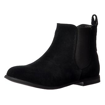 Onlineshoe Classic Chelsea Flat Ankle Boot - Elasticated Sides - Black