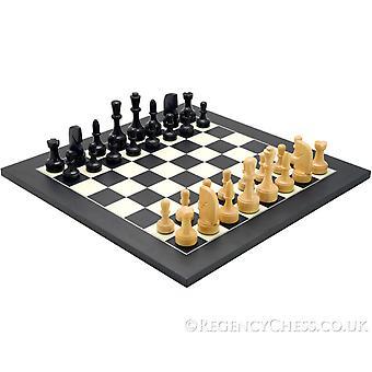 Moderne Matt Black Chess Sett