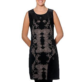 Smash Women's Black Cream Petalo Dress XXL