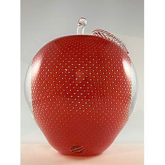 Bergdala Hyttan - Art Glass - Christmas Apple Big Red Design Magnus Carlsson